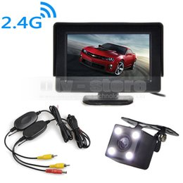Wholesale Car Video Camera Parking System - 4.3inch Video Car Monitor + HD LED Car Camera Rear View Security System Wireless Parking Reversing System Kit