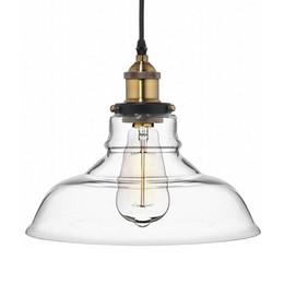 Wholesale Vintage Glass Bulb Pendants - Vintage Glass Pendant Lights Hanglamp Light Fixtures Retro Industrial Pendant Lamp Loft Lamparas Colgantes 110v 220v E27 Bulb