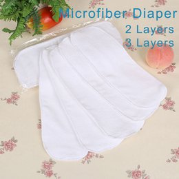 Wholesale Nano Cloth Diaper - 10 pieces Cloth Diapers For Newborn Baby 2 Layers Disposable Diapers Nano Microfiber Reusable Nappies Washable Nappy Inserts V49