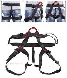 Wholesale Rock Equipment - Tactical equipment Protective device Outdoor gear Harness Bust Seat Belt Rock Climbing Harness Rappelling Equipment 4 colors