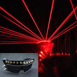 Wholesale Lighted Dance Stages - LED sunglasses Bar party Prince nightclub laser glasses dance evening singers perform DJ stage light emitting laser gl glasses Laser glasses