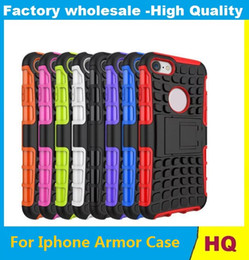 Wholesale Iphone Stand Spider Case - For Iphone 7 Iphone7 4.7'' Plus I7 Armor Rugged Square Hybrid Spider Hard PC +Soft TPU Case I SE 5 5S 6 6S 6Plus 5C Stand ShockProof Skin