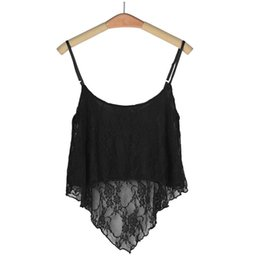 Wholesale Loose Crop Tank Top Wholesale - Wholesale- Summer 2016 Women Sexy Crop Tops Lace Camis Tank 5Colors Crop Top Solid Women Loose Tank Top,Canotta Top Donna,Canottiere Donna