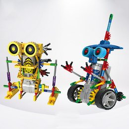 Wholesale Building Blocks Electric Toy - Robot Blocks Electric Building Blocks Assembly DIY Educational Dinosaur Model Toys For Children Kids Gifts 3011-3018