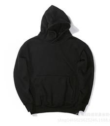 Wholesale East Hoodies - KANYE WEST Plain color sleeve head OVERSIZE Cut loose hoodies leisure high street Metrosexual East Gate OFF