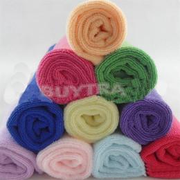 Wholesale House Appliances - Wholesale 10pcs Square Luxury Soft Fiber Cotton Face Towel 24.5*23.5cm House Cleaning