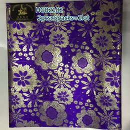 Wholesale Damask Guinea Brocade - Wholesale and retail African Party Wedding Fabric Free Shipping Damask Riche Guinea Brocade Headtie Sego