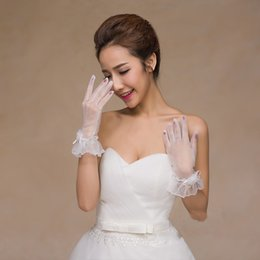 Wholesale Gloves Sexy Bridal - 2017 sexy elegant modern lace long sleeves length bridal gloves for woman fast shipping