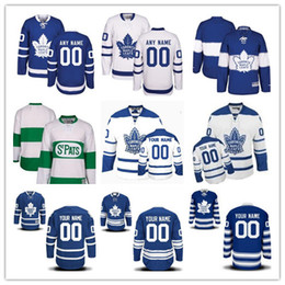 Personalized Toronto Maple Leafs Custom Men Women Youth Hockey Jerseys Green  Home Blue Away White Winter 2017 Centennial Classic Third S 4df86664b