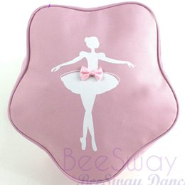 Wholesale Girls Pink Ballet Bag - Ballet backpack Dance woman rucksack Professional school bag Pink girl daypack Outdoor schoolbag Sport day pack