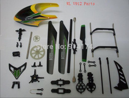 Wholesale Helicoptero V912 - main blades YUKALA wl toys v912 2.4g rc helicopter spare parts kit set main blade+canopy+landing gear+flybar+tail rotor free shipping