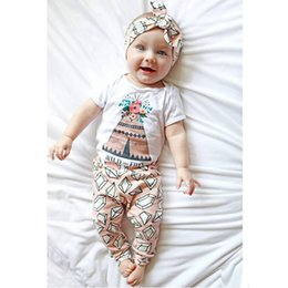 Wholesale Girls Floral Harem Pants - 2017 New Summer Baby Girl Clothing Sets Newborn Short Sleeve Floral Rompers+Diamond Harem Pants 2pcs Set Toddler Onesies Suit Infant Outfits
