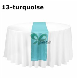 Wholesale Cheap Wedding Satin Table Runners - Wholesale Price 20pcs Satin Table Runner \ Cheap Price Wedding Table Cloth Runner Decoration
