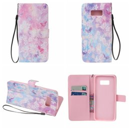 Wholesale Paris Oil Paintings - Wallet Leather For Galaxy S8 Plus (A3 A5 J3)2017 Flower Bird Painting Oil Paris Cover Dandelion Eiffel Tower Card Slot Flip Pouch Strap