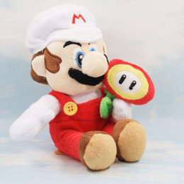 "Wholesale Super Mario Bros Plush Characters - Wholesale- HOT Super Mario Bros 8"" Mario Sun Flower Character Plush Doll Soft Toy Kid Gift"