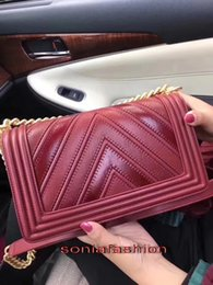 Wholesale Hottest Cell Phone Covers - New hot fashion of 2017 women bag genuine leather with chain women cross-body shoulder bag free shipping