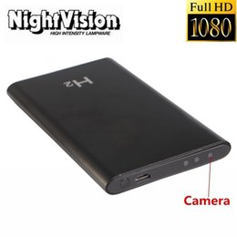 Wholesale Battery Powered Dvr - HD Ultra-thin Large Capacity Battery Power Bank DVR Camcorder DV 1080P Mobile Power Bank Spy Camera Night Vision Hidden Video Camera