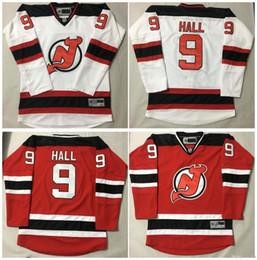 Wholesale Discounted Hockey Jerseys - Devils #9 Taylor Hall Hockey Jersey Men Hockey Jerseys Discount White Red Authentic Stitched Jerseys 2017 Men New Jerseys