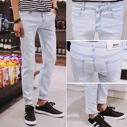 Wholesale Slimming Bomb - Wholesale-2016 Men Jeans Male Casual Denim trousers Men's Simple micro-bomb jeans Slim Wholesale Jeans man pants 28''-36''