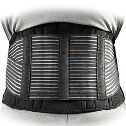 Wholesale Magnetic Waist Support - Wholesale- New Men Tourmaline Self-heating Magnetic Therapy Waist Support Sport Waistband Fitness Breathable Brace Lower Back Safety Belt