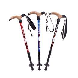 Wholesale walking poles wholesale - Original Hewolf T-handle Hiking Stick Walking Trekking Pole for Climbing Mountaineer 3 Colors New Arrival 2527011