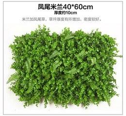 Wholesale Home Party Marketing - 2017 New artificial green grass wall background decoration home market hotel shop decorative plant wall