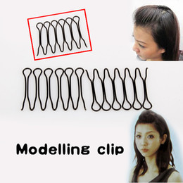 Wholesale Hair Styles Fringes - Wholesale- New Mini Easytouse Hair Style Bang Fringe Curve Clip Pin Invisible Black GUB#