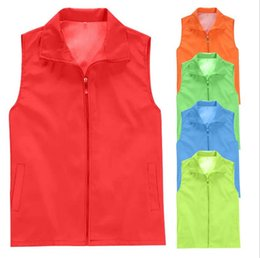 Discount advertising clothing - Advertising Vest Customized Wholesale Volunteer Vest Custom Activity Promotion Work Clothes