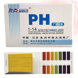 Wholesale Litmus Paper Test Strips - 2017 New Full Range 1-14 Litmus Test Paper Strips Tester Indicator PH Partable 80 Strips PH Paper Meters Analyzers