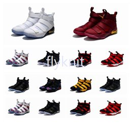 Wholesale Cheap Basketball Sneakers For Sale - 2017 New Arrival James XI Soldiers 11 Limited Edition Chameleon Men's Basketball Shoes for Top Quality Cheap Sale Sports Sneakers Size 40-46