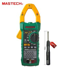 Wholesale multimeter current clamp - Freeshipping AutoRange Digital AC 1000A Current Clamp Meter True RMS Multimeter Frequency Capacitance Tester NCV