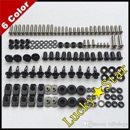 Wholesale Honda Cbr 929 Body Kit - 100% For HONDA CBR929RR CBR900 CBR900RR CBR 900 900RR 929 2000 2001 00 01 Body Fairing Bolt Screw Fastener Fixation Kit