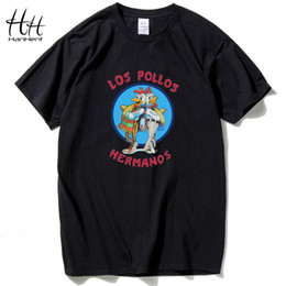 Wholesale Los Pollos Hermanos T Shirt - Wholesale- HanHent Breaking Bad Los Pollos Hermanos T Shirts Men Chicken Brothers 2016 Summer T-shirts Short Sleeve O Neck Cotton Shirts