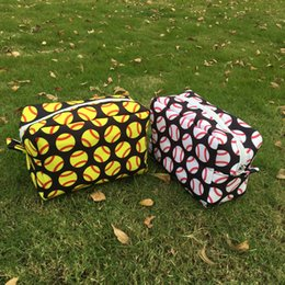 Wholesale Team Sports Accessories - Baseball Cosmetic Bags Polyester Softball Makeup Bag Sports Travel Bags Baseball Team Accessories Bag Support Your Team DOM106482