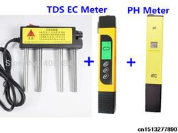 Tester di conducibilità online-3 pz PH Meter 0.0-14.0pH Filtro + TDS EC Conduttivimetro + acquario elettrolizzatore elettrolizzatore EUR spina