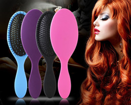 Wholesale Massage Combs - 2017 Wet & Dry Massage Hair Brush Detangler Hair Brush Comb Single nylon yarn With Airbags Combs For Wet Hair Shower Brush DHl Free Shipping