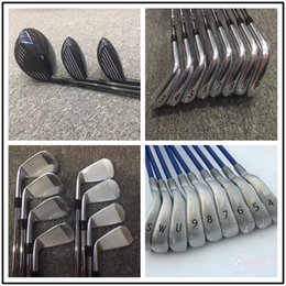 Wholesale Golf Irons Hybrids - Wholesale- Factory Outlet 11 PCS Golf complete sets fairway +drivers combination Set Grip +golf iron hybrids putters free shipping