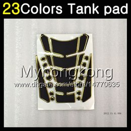 Wholesale Sticker Yamaha - 23Colors 3D Carbon Fiber Gas Tank Pad Protector For YAMAHA YZF600R 1996 1997 1998 1999 00 YZF 600R 2002 2003 2004 2007 3D Tank Cap Sticker