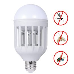 Wholesale Mosquito Killer Bulb - LED Bulb Mosquito Killer 110V 220V Electronic Mosquito Night Light 15W Insect Flies HouseFly Repellent Mosquito
