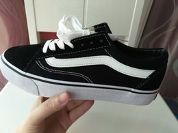 Wholesale Branded Trainers - 2017 Size 35-45 old skool Canvas Men women casual shoes sneakers Unisex Brand shoes casual Flats for men women zapatillas trainers