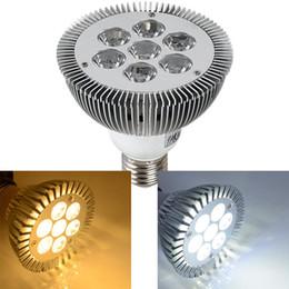Wholesale 24v Led Garden Lighting - High power 21W PAR30 CREE LED E27 7X3W LED light bulb lamp led ceiling downlight warm white AC110V 220V CE UL