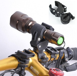 Wholesale Pump Clips - Multi-purpose 360 Degree Rotated Cycling Grip Mount Bike Clamp Clip Bicycle Flashlight Bracket LED Flashlight Torch Holder Bike Pumps