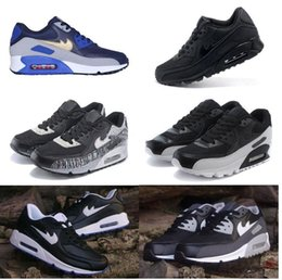 Wholesale Women Trainers Sale - Hot Sale Air Cushion 90 Running Shoes For Women Men High Quality Sport Shoes Black White Air 90 Trainers Sneakers Eur 36-46
