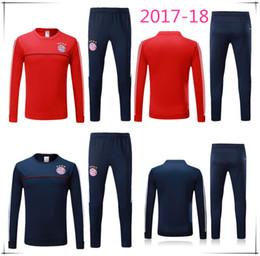 Wholesale Moisture Bags - High quality jackets in 2017 and 2018 training suit bag new uniform shirt survetement18 LEWANDOWSKI vidal muller robben football kits