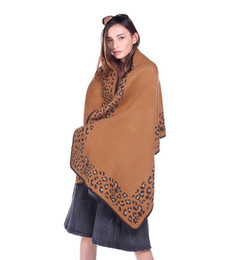 Wholesale Scarf Leopard Color - Women Scarves leopard print keep warm Girl Neck Scarf shawl Shawl Air conditioning shawls 4 color optional 58