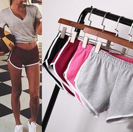 Wholesale women s gym - Women Girl Sports Shorts pant Running Gym Beach Casual Fitness Yoga Summer Pants Homewear elastic Shorts 13 color KKA1659