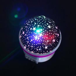 Wholesale Sky Night Light Lamp - Romantic Led Night Lamp Rotating Starry Star Moon Sky Rotation Night Lighting Projector Lamp Sleeping Lights For Kids Usb Charging