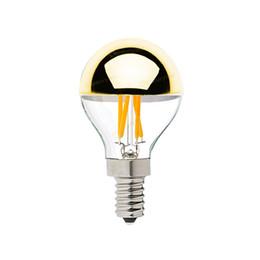 Wholesale E12 Led Globe - Gold Mirror,G45 Globe Bulb,4W,Edison LED Filament Bulb,E12 E14 Standard Base,Warm White,Decorative Household Lights,Dimmable