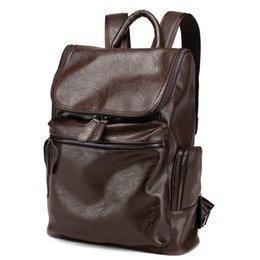 Wholesale Diamond Bookbag - Vintage Leather Backpack School Travelling College Bookbag Laptop Computer Men Shoulder Camping Travel Laptop Bag bag04