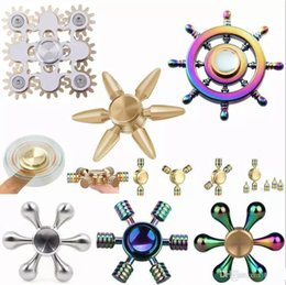spinner rainbow dhl Promo Codes - DHL Colorful Fidget spinner Rainbow Hand Brass Ceramic Hybrid Bearing EDC Desk Toy Game for Autism and ADHD Focus Anxiety Relief Stress Toys